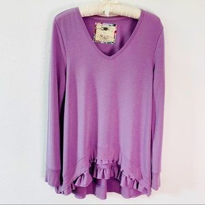 CUPIO LAVENDER LONG SLEEVES LOUNGING TUNIC